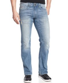 Guess Regular-Fit Retribution-Wash Bootcut Jeans