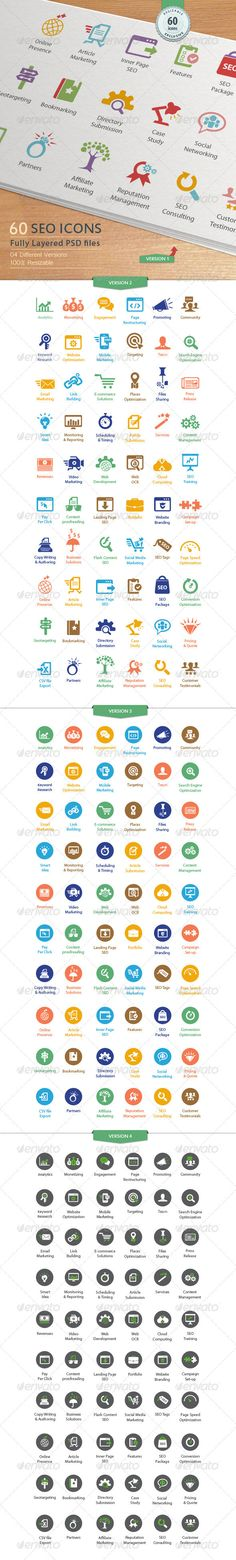 SEO Services Icons - GraphicRiver Item for Sale