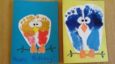Birthday Card Diy For Grandma Footprint Art 48 Ideas For 2019 - Modernes Birthday Cards To Print, Birthday Cards For Mom, Homemade Birthday Cards, Birthday Cards For Boyfriend, Birthday Crafts, Birthday Nails, Happy Birthday, Baby Crafts, Toddler Crafts