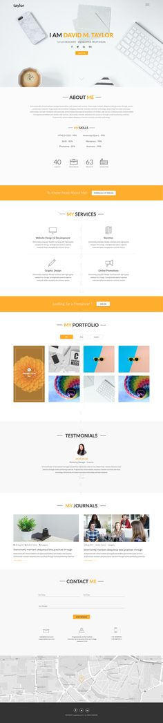 Syntac - Flat Personal Portfolio Psd Template Personal portfolio - company portfolio template