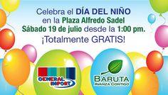 ¡Celebra el Día del Niño con General Import!este #19JUL en la Plaza Alfredo Sadel, 1pm. Entrada gratis