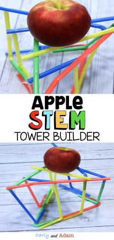 Apple Tower Autumn STEM Activity Apple Tower STEM Challenge: Make learning fun with this fall STEM activity in which students design and create a stand to support an apple! This is the perfect activity for apple day or to use as a fun fall STEM challenge. Apple Activities, Autumn Activities For Kids, Steam Activities, Kindergarten Stem, Stem Classes, Stem For Kids, Stem For Preschoolers, Stem Learning, Stem Science