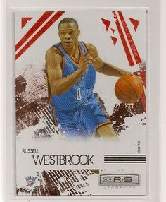 2009-10 Rookies  amp  Stars Russell Westbrook Red Insert Card Numbered To  Only 250 47f15282a