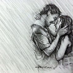 pencil drawings of couples in love - Google Search