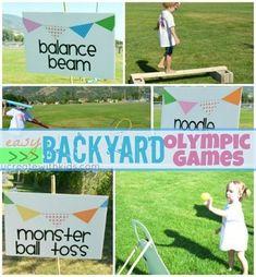 Summer Olympic Games for Kids (Part – Craftionary Olympics kids games backyard Olympic Games For Kids, Olympic Idea, Kids Olympics, Summer Olympics, Backyard For Kids, Backyard Games, Backyard Carnival, Backyard Playground, Backyard Ideas