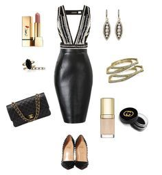 """""""Showstopper"""" by bethany-mcdowell on Polyvore featuring sass & bide, Chloe + Isabel, Christian Louboutin, Gucci, Yves Saint Laurent, Chanel and Dolce&Gabbana"""