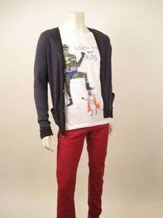 Marc by Marc Jacobs Cardigan Retail- $175, HW -$65. Iceberge Graphic Tee Retail- $75, HW- $35. DL1961 Red Jeans Retail- $178, HW- $65.
