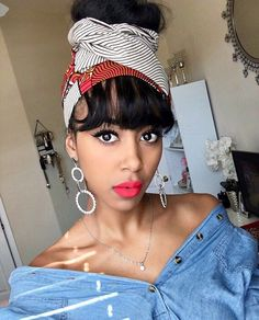 Turbans, Headscarves, Dope Hairstyles, Scarf Hairstyles, Natural Hair Styles, Short Hair Styles, Natural Beauty, Head Scarf Styles, African Head Wraps