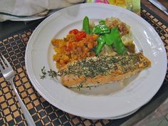 Salmon with Fresh Thyme & Couscous