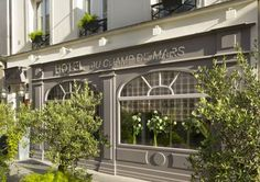 Hotel du Champ de Mars Paris Located in Paris, Hotel du Champ de Mars is 900 metres from the Eiffel Tower and 700 metres from Les Invalides. It offers free WiFi access, a 24-hour frond desk and individually decorated guest rooms.