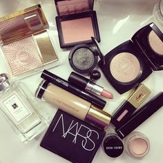 YSL Touche Eclat Foundation, MAC Lipstick, NARS Blush, and Bobbi Brown Eyeliner… The BEST Makeup!