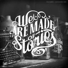 'We Are Made of Stories' hand-lettering by Abraham García