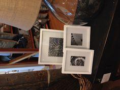 White frames with black and white detail photos (coastal?)