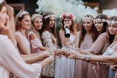 Foto Wedding, Wedding Girl, Bridal Shower Photography, Bridal Party Robes, Team Bride, Party Photos, Boho, Marie, Bridesmaid