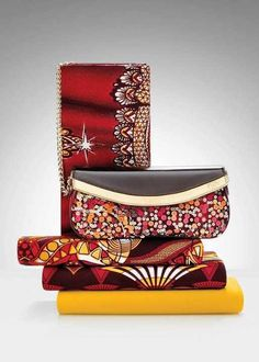 African-inspired clutch bags