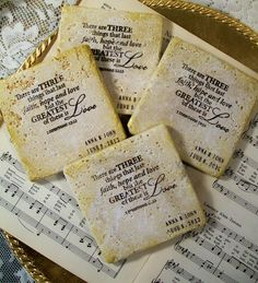 Wedding Coaster Set of 4 Christian Gifts 1 by PrayerNotes on Etsy, $20.00