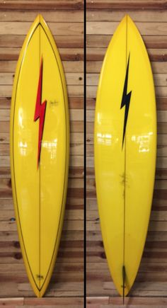 Lightning Bolt Surfboards 7'6 Gun, handshaped and signed by GERRY LOPEZ on Clark Form blank.