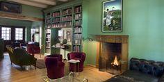 The library at Babylonstoren's Farmhouse