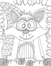 Free printable Forest Animal Coloring Pages from Doodle Art Alley Cute Coloring Pages, Animal Coloring Pages, Printable Coloring Pages, Coloring Sheets, Coloring Books, Fall Coloring, Doodle Coloring, Adult Coloring, Kissing Hand Activities