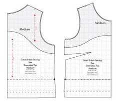 Sleeveless Top , free pattern and tutorial | See more about Sleeveless Tops, Sewing Patterns and Sewing.