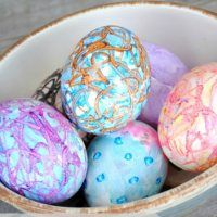 Creating Colorful Easter Eggs with Melted Crayons - Jenna Burger