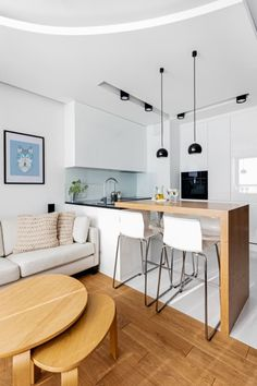 small dining table designs that you need for your small space page 3 Small Apartment Interior, Apartment Kitchen, Living Room Kitchen, Home Decor Kitchen, Apartment Design, Kitchen Ideas, Kitchen Design Open, Interior Design Kitchen, Open Kitchen