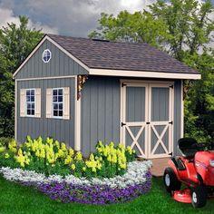 8 ft x 12 ft deluxe cedar bevel siding storage shed kit for Garden shed jokes