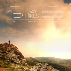 15 Best Day Hikes - Northeast (MA VT NH PA NY NJ CT)