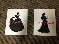 Disney princess silhouettes! I would add a quote and some kappa blue to it :)