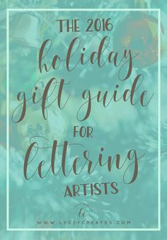Know a lettering artist? Want to get started hand lettering? This holiday gift guide is for you! With THREE guides from beginner to advanced, to paint lovers, I've got you covered for all your brush lettering needs! You'll definitely pick a gift you like —click through to read the full list!