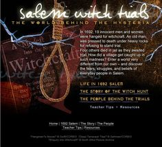 Discovery Education provides students with an interactive site that contains various additional resources and information to enrich the users background knowledge of the Salem Witch Trials. The site also includes teacher tips for incorporating this activity into a lesson. CCSS.ELA-Literacy.RI.6.7