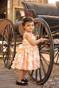 Dolls & Divas Peach Ribbon Dress
