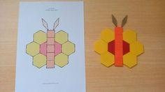 Treino de orientação espacial: Reproduzir a imagem modelo (borboleta) com as peças.