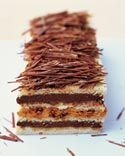 Genoise Torte with Chocolate- and Praline-Caramel Mousses