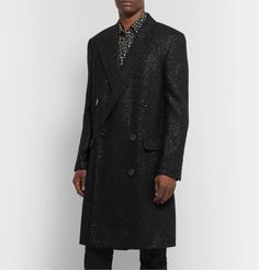 Take advantage of the end of the fall-winter 2019 season and enjoy discounted prices on designer fashions that are part of Mr Porter's holiday sale. Satin Bomber Jacket, Suit Jacket, The Fashionisto, Men's Coats, Hooded Parka, Mr Porter, Men's Fashion, Fashion Design, Double Breasted
