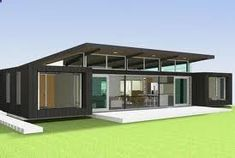 Container House - Love the skillion roof with the high row of windows that can be opened to let hot air out during summer - Who Else Wants Simple Step-By-Step Plans To Design And Build A Container Home From Scratch?