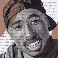 Shakur Portrait - signed Giclée art print with Changes lyrics. Marker Pen Drawing size Hip Hop ArtTupac Shakur Portrait - signed Giclée art print with Changes lyrics. Tupac Shakur, Arte Do Hip Hop, Hip Hop Art, Tupac Art, Tupac Lyrics, Tupac Wallpaper, Tupac Pictures, Teen Photography, Artist