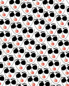 Cool Face. #pattern #illustration bouffantsandbrokenhearts.com