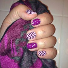 Jamberry Boysenberry Chevron and Icy Boysenberry Polka - Just ordered this combo! www.jobie.jamberrynails.net