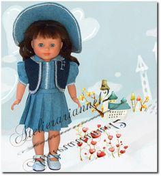 Vêtement MODES ET TRAVAUX avril 1951, poupée 40 cm Marie-Françoise et autres  ❤ Marie-Françoise ❤ en ensemble de Modes et Travaux - avril 1951: 26,90 EUR