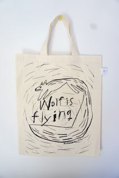 Fu Fu Fu, Fox Bag, Tape Art, Life Design, Japanese Artists, Cotton Bag, Artist At Work, Painting & Drawing, Purses And Bags