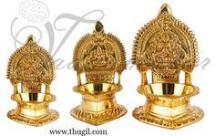 Beautiful Kamakshi Diya Vizlaku in quality brass  http://www.thugil.com/india-brass-diya.html
