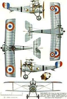 Nieuport 17 Unit: Lafayette Escadrille Serial: S Pilot – Sgt. Western Front, The 'Indian Head' emblem depicts a … Nieuport 17 Unit: Lafayette Escadrille Serial: S Pilot – Sgt. Western Front, The 'Indian Head' emblem depicts a … Aviation World, Aviation Art, Fighter Aircraft, Fighter Jets, Old Planes, Aircraft Painting, Vintage Airplanes, Aircraft Design, Model Airplanes