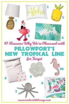 Pillowfort's new tropical line for Target is filled with lots of fun, colorful pieces. Click to find out more!
