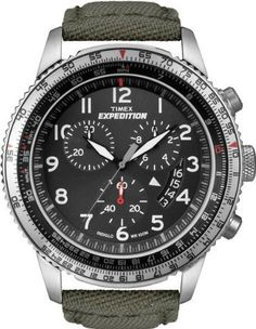 Timex T49823GP Expedition Military Chronograph Rugged Cordura Strap (Black)