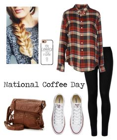 """National Coffee Day"" by lillyd26 ❤ liked on Polyvore featuring Wolford, Band of Outsiders, Converse, SONOMA Goods for Life and Casetify"