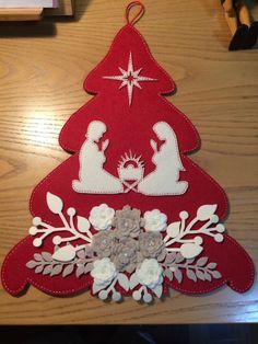 Best 11 Pattern for Felt Christmas Tree – SkillOfKing. Easy Christmas Ornaments, Felt Christmas Decorations, Christmas Nativity, Felt Ornaments, Christmas Art, Christmas Projects, Simple Christmas, Christmas Wreaths, Ornaments Design