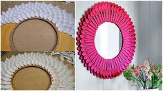 Paso a Paso para Decorar Espejos con Cucharas de Plástico... ¡El Resultado Te Encantará!