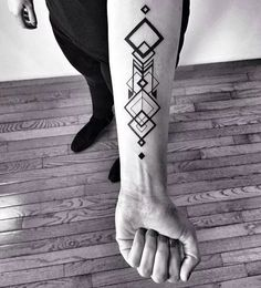 forearm tattoo ideas for men geometric pattern