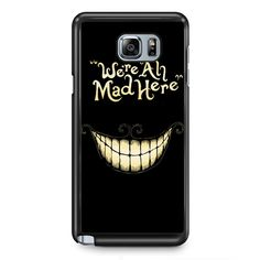 Alice In Wonderland We Are All MadPhonecase Cover Case For Samsung Galaxy Note 2 Samsung Galaxy Note 3 Samsung Galaxy Note 4 Samsung Galaxy Note 5 Samsung Galaxy Note Edge